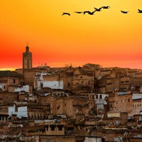 Marokko Fes Sonnenuntergang