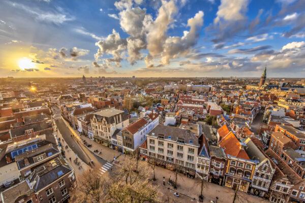 Niederlande Groningen von oben