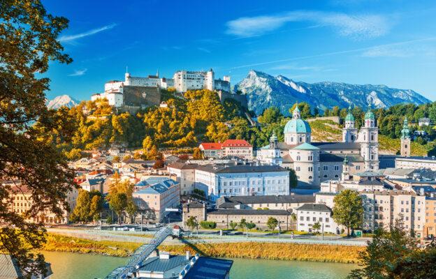 Österreich Salzburg Skyline