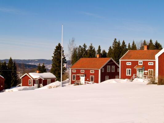 Schweden Alnon Schnee