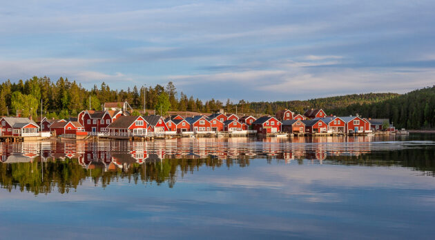 Schweden Smaland Rote Häuser