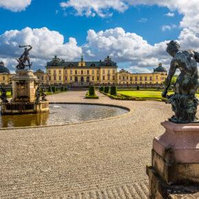 Schweden Stockholm Schloss Drottningholm