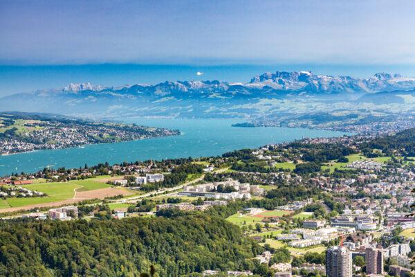 Schweiz Zürich Uetliberg Aussicht