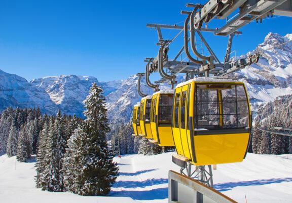 Skiurlaub Luxus Gondeln