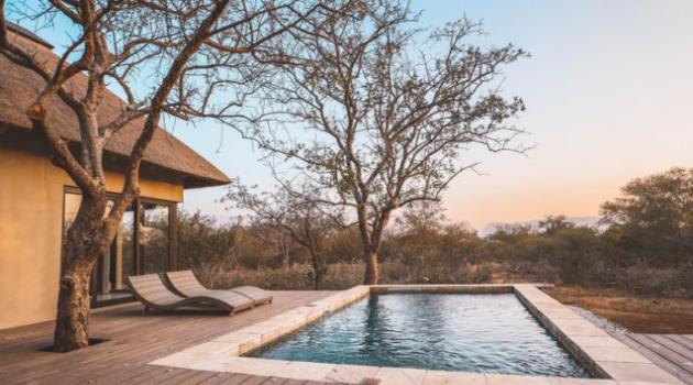 Südafrika Hoedspruit Ferienhaus Aussicht