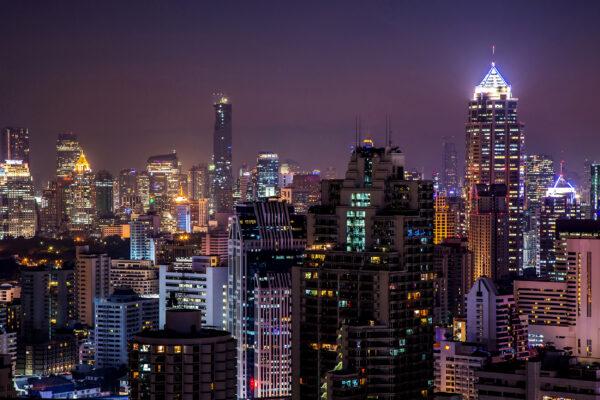 Südafrika Johannesburg bei Nacht