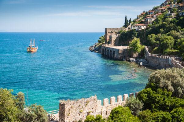 Türkei Alanya Küste Meer