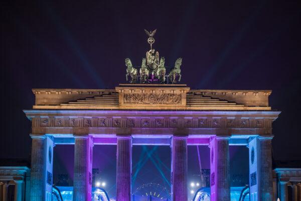 Deutschland Berlin Brandenburger Tor Lichter Silvester
