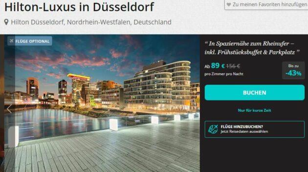 Hilton Düsseldorf Schnäppchen