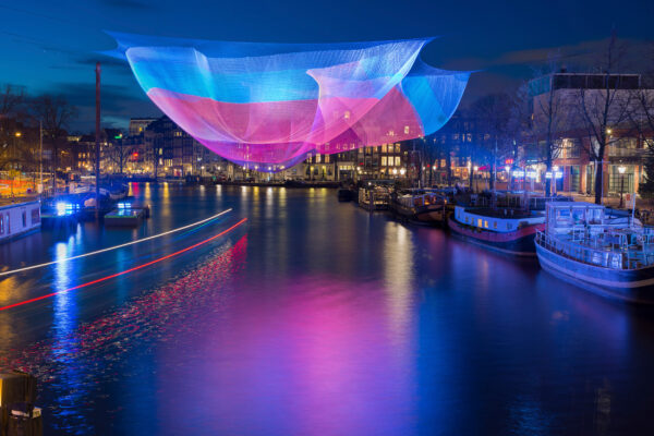 Niederlande Amsterdam Festival of Lights bunt