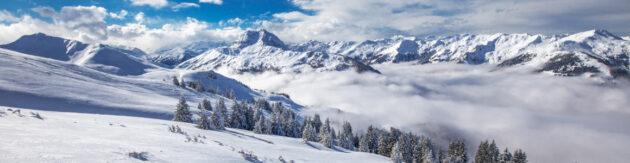 Österreich Kitzbuehel Skifahren Panorama