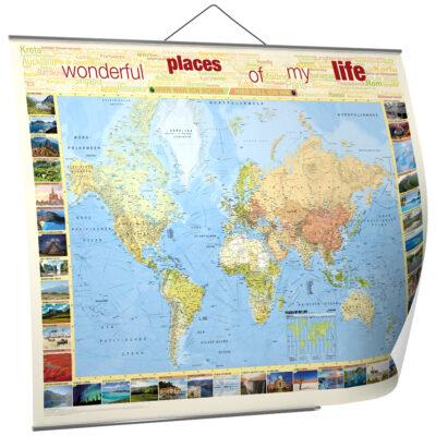 Reiseweltkarte