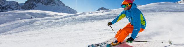 Skifahren Sonnenschein Panorama