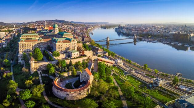 Ungarn Budapest Burgberg oben