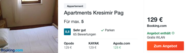 8 Tage Kroatien Hotel