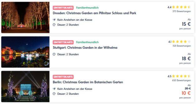 Christmas Garden Gutscheine