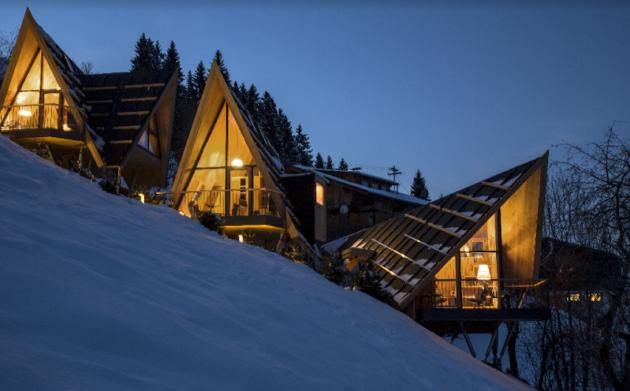 Österreich Hochleger Baumhaus Außenansicht