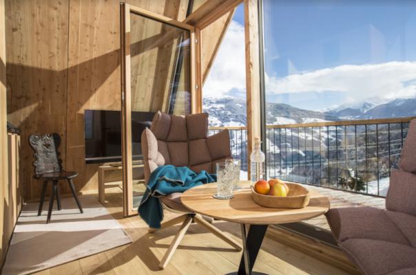 Österreich Hochleger Baumhaus Fensterfront