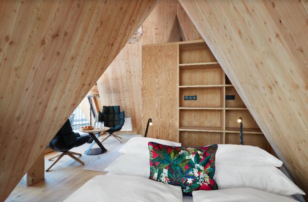 Österreich Hochleger Baumhaus Schlafbereich