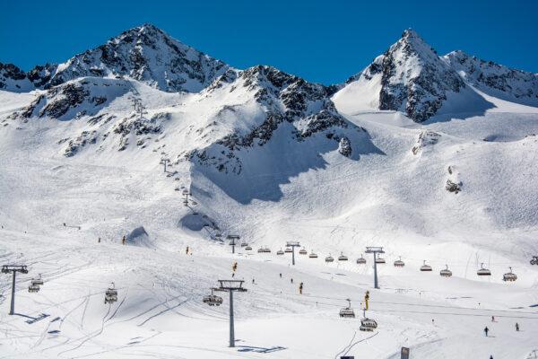 Österreich Stubaital Ski