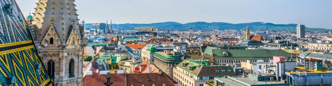 Österreich Wien Stephansplatz oben Panorama skaliert
