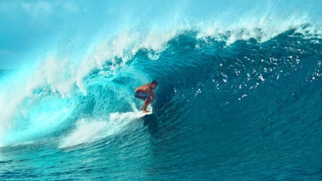 Tahiti Surfen