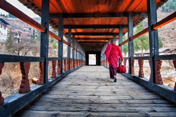 Bhutan Paro Mönch