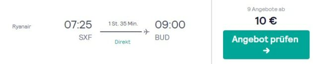 flug nach budapest