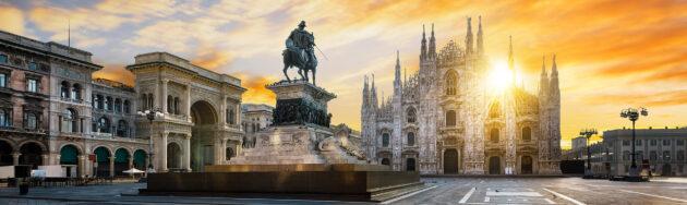 Italien Mailand Dom Sonnenaufgang