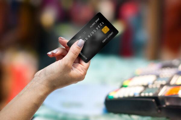 Kreditkarte Shopping