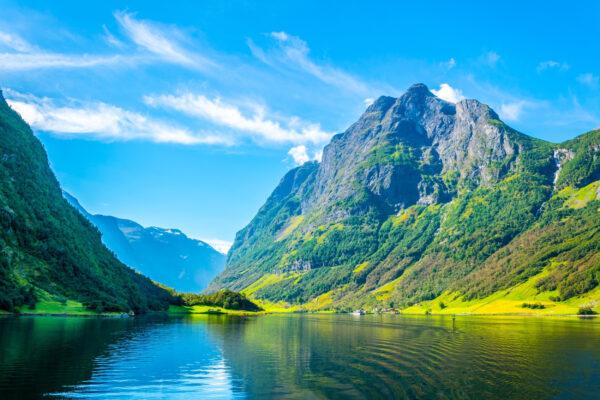 Norwegen Aurlandsfjord