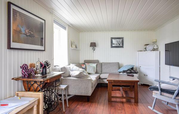 Norwegen Ferienhaus Ballangen Wohnzimmer