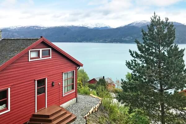Norwegen Ferienhaus Norheimsund aussicht