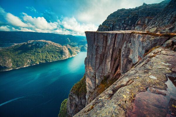 Norwegen Lysefjord Preikestolen