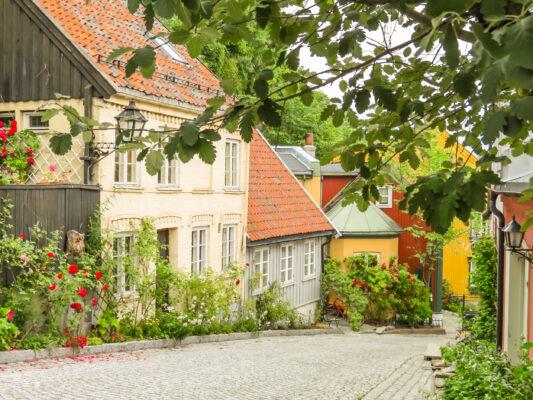 Norwegen Oslo Holzhäuser