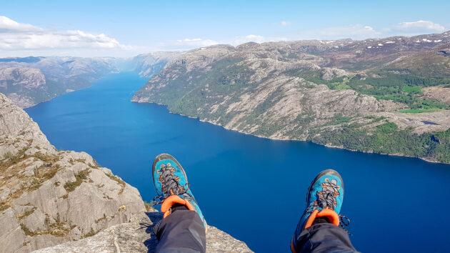 Norwegen Preikestolen Ausblick
