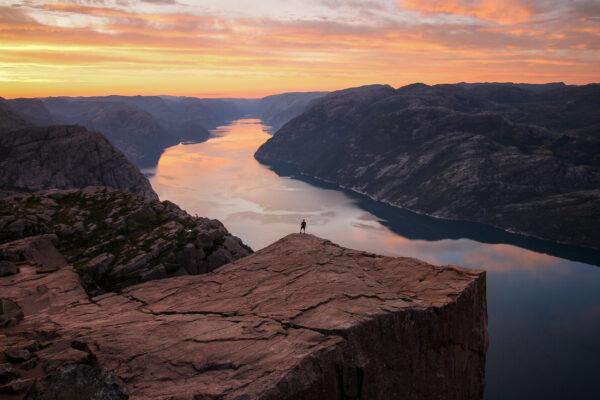 Norwegen Preikestolen Sonnenaufgang