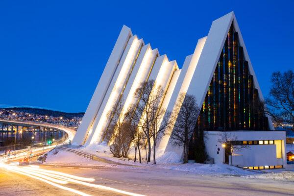 Norwegen Tromso Eismeer Kathedrale