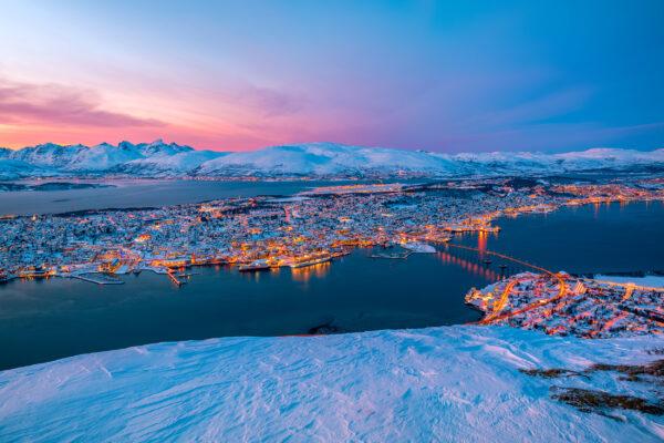 Norwegen Tromso Fjellheisen