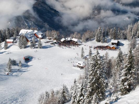 Slowenien Skigebiet Krvavec