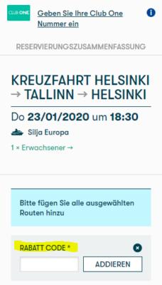 Tallink Gutschein
