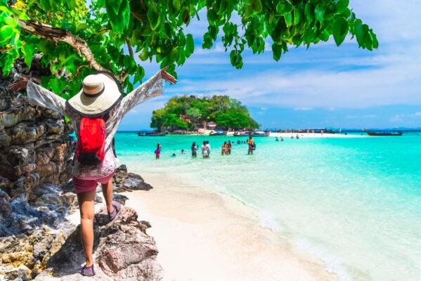 Thailand Phuket Frau Meer