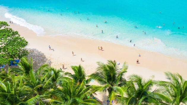 Thailand Phuket Surin Strand Palmen