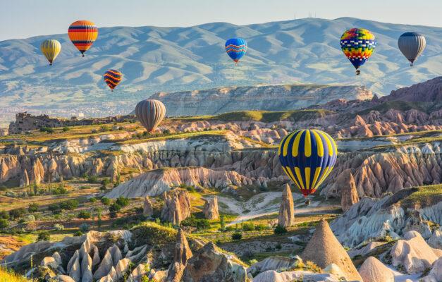 Türkei Kappadokien Heißluftballons