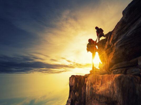 Aktivurlaub Klettern Sonnenaufgang