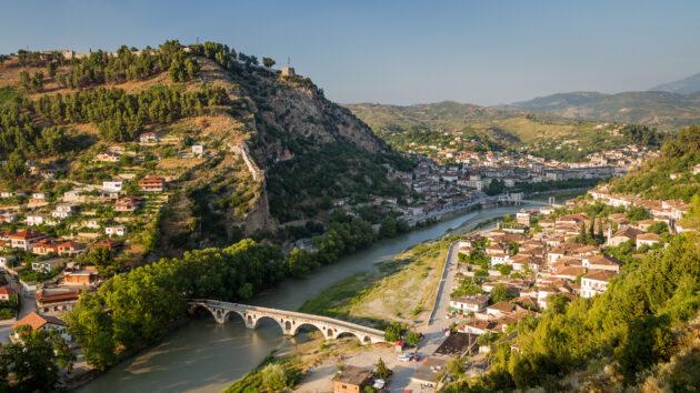 Albanien Berat von oben