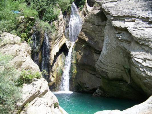 Albanien Bogova Wasserfälle