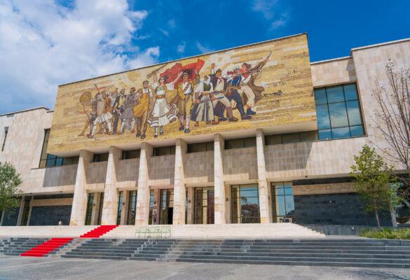 Albanien Tirana Historisches Nationalmuseum
