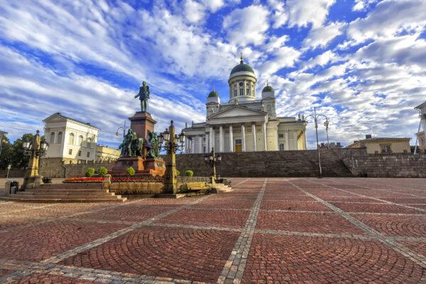 Finnland Helsinki Senatsplatz
