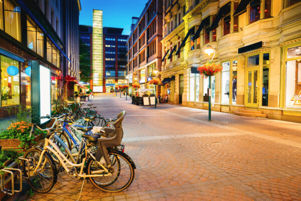 Finnland Helsinki Straße Altstadt